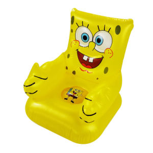 Cartoon Design PVC Inflatable Yellow Sofa for Kids pictures & photos