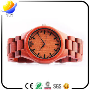 Promotional Gift Wooden Retro Men′s Womer′s Quartz Wrist Watch pictures & photos
