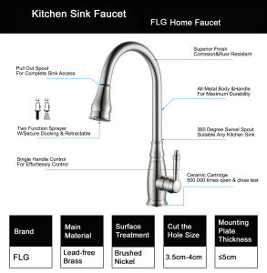 Flg Single Handle Pull out Sprayer Pull Down Kitchen Bar Faucets/Tap pictures & photos
