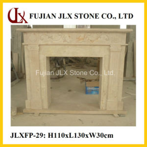 Natural Stone Made Marble Mantel pictures & photos