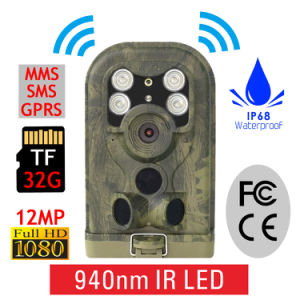 940nm Infrared Night Vision Hunting Camera 12m Digital Trail Camera Trap pictures & photos