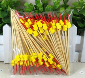 Eco Natural Bamboo Fruit Skewer/Stick/Pick (BC-BS1065) pictures & photos