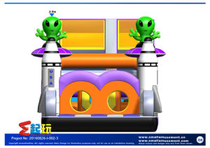 Inflatable Slide with Aliens pictures & photos