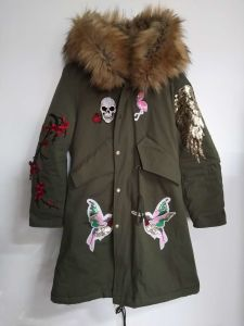 Fake Fur Jacket, Women′s Clothing, Green, Polyester pictures & photos