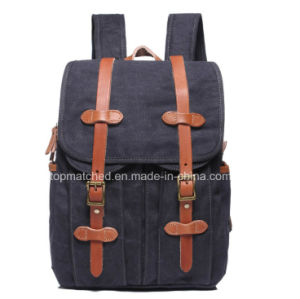 2016 New Fashion Canvas Shoulder Bag Leisure Backpack Travel Bag Men and Women Computer Laptop School Canvas Backpack pictures & photos