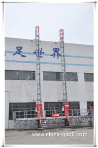 Gaoli Double Rack Mast Climbing Work Platform with Ce/ISO Approved pictures & photos