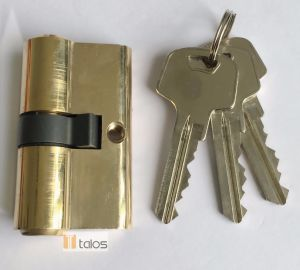 Standard 5 Pins Brass Plating Double Secure Cylinder Lock pictures & photos