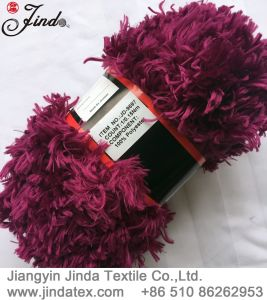 Fancy Polyester Feather Fake Fur Yarn Jd9697 pictures & photos