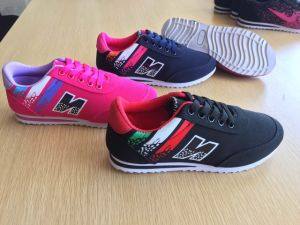 Women′s Totem Painting Canvas Sports Shoes with Sneaker pictures & photos