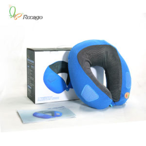 Slow Memory Foam U Shape Vibration Music Neck Massage Pillow pictures & photos