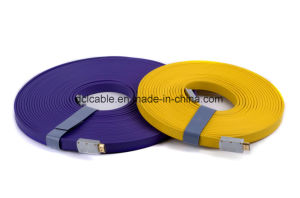 20m Metal Shell Flat HDMI Cable 1.4V Support 3D/1080P pictures & photos