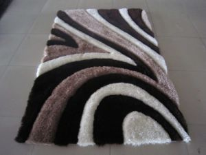China 100% Polyester Silk Shaggy Carpet Rugs pictures & photos