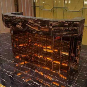 Customized Artistic Furniture Gold Color Stainless Steel Small Table Side Table pictures & photos