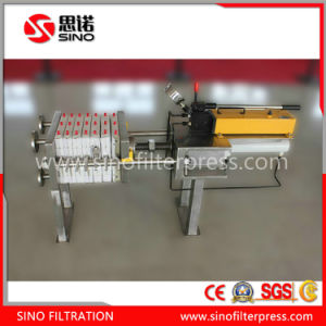 Small Filter Press, Manual Hydraulic Filter Press for Laboratory pictures & photos