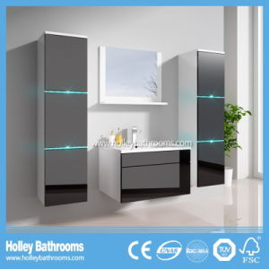 The New LED Light Touch Switch High-Gloss Paint MDF Furniture Bathroom Cabinet (B796D) pictures & photos