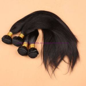 8A Unprocessed 3/4 Bundles with Lace Closure Mongolian Virgin Hair Straight with Closure Human Hair Weave with Closure