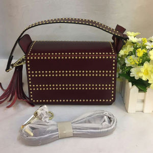 Spring Fashion Messenger Bag Genuine Leather Studded Handbags with Tassels Emg4827 pictures & photos