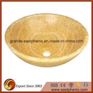 Honey Onyx Round Bathroom Vessel Sink pictures & photos