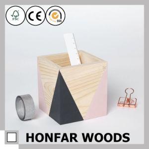 Office Supply Modern Wooden Pen Pot Pen Holder Wooden Craft pictures & photos
