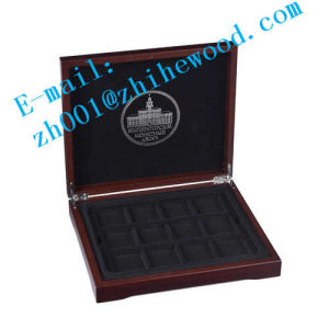 Wooden Commemorative Coin Collection Box