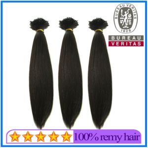 Remy Hair Black V-Tip Hair Extension pictures & photos