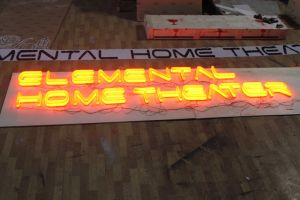 Full Lit Acrylic Channel Letter with Orange Light pictures & photos