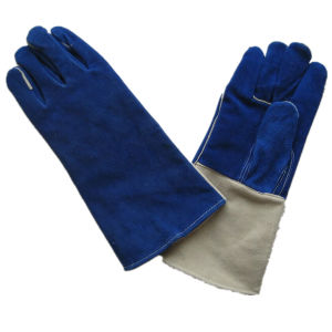 Cow Split Leather Reinforced Thumb Welding Work Glove pictures & photos