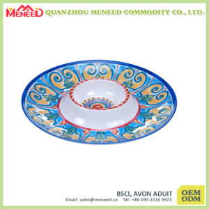 Custom Design Full Print Plastic Melamine Dinner Plate pictures & photos