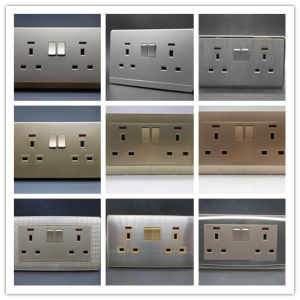 2 Gang 13A Wall Switch Socket pictures & photos