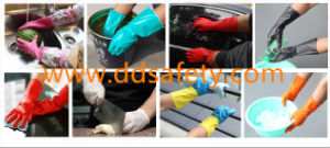 Ddsafety 2017 Europe Standard Green Nitrile Chemical Industrial Gloves pictures & photos