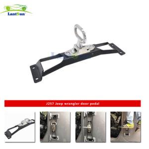 J257 Lantsun No Drilling Steel Black Door Hinges Foot Rest Pedal Peg for Jeep Wrangler 2007-2016 pictures & photos