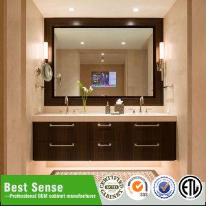 Hot Sale Wall Mounted Wooden Veneer Bathroom Vanity pictures & photos