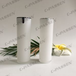 New Arrival Pearl White Cylinder Acrylic Airless Bottle for Cosmetic Packaging (PPC-AAB-037) pictures & photos