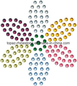 latest Design Iron on Rhinestone Transfer Motif for Dress (TM63) pictures & photos