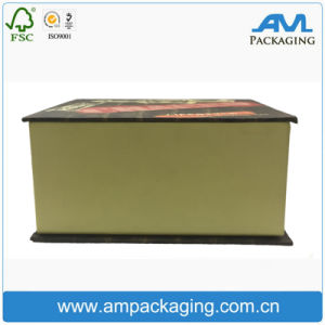 Bespoke Dongguan Humen Paperboard Made Luxury Clamshell Shape Cigar Box pictures & photos