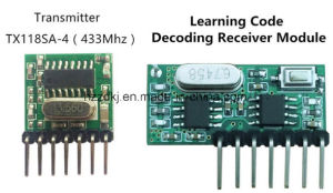 433 MHz Wireless Receiver and Transmitter Remote Control Learning Code 1527 Decoding Module 4 CH Output with Learning Button pictures & photos