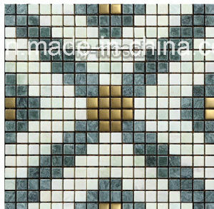 Building Material Metal Mixed Natural Marble/Ceramic/Glass Mosaic (FYSM070) pictures & photos