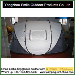 Double Layer Wholesale Pop up 4-Man One Touch Camping Tent pictures & photos