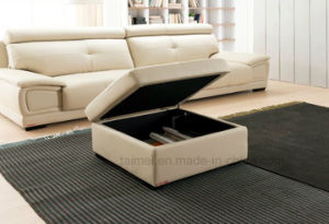 Promotional Modern Top Grain Leather Sofa Set (1+2+3) pictures & photos