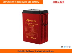 Cspower 6V420ah Deep Cycle Gel Battery for Golf Cart pictures & photos
