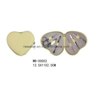 Promotion Heart Shape Pedicure Kit Red Leather Zipper Manicure Set pictures & photos