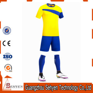 Plain 100% Polyester Soccer Jersey Uniforms Dye Sublimation pictures & photos