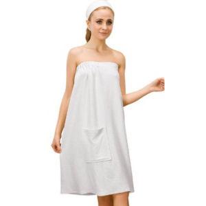 High Quality Cotton White Hotel/SPA Shower Dress Shower Bath Wraps pictures & photos