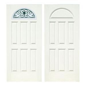 2 Panel Plank Series FM 200W - Double Pre-Hung Door-Mediem Walnut pictures & photos