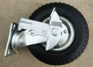 8 Inch PU Caster Wheel with Brake pictures & photos