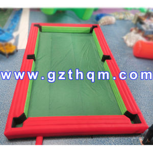Amusement Park 0.45mm PVC Inflatable Snooker Football/Inflatable Pool Table Pitch Snooker pictures & photos