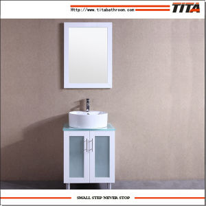 White Lacquer Glass Vanity Top Bathroom Vanity T9140-60W pictures & photos