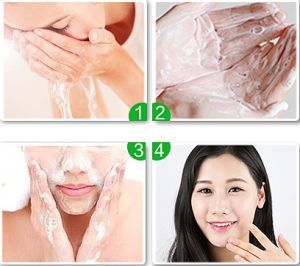Face Skin Care Oil Control Moisturizing Green Tea Facial Cleanser pictures & photos