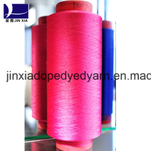600d/144f Dope Dyed Polyester Filament Yarn DTY pictures & photos