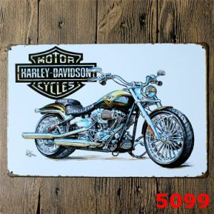 Home Decorations 20*30cm Metal Plate with Harley-Davidson pictures & photos